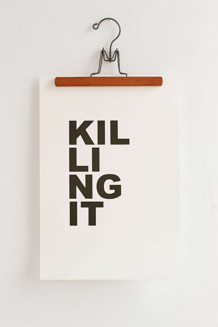 Cult Paper Killing It Art Print - we obvs shouldn't buy this but we could make poster art or something