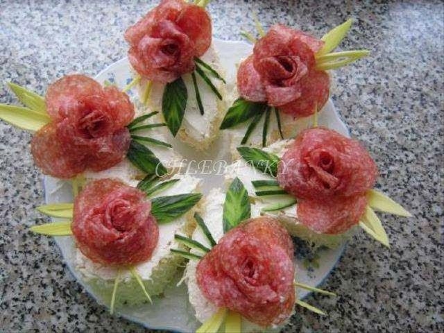 PHOTOS ONLY - Various wonderful photos of Sandwich Cakes and Individual Sandwiches -foreign site