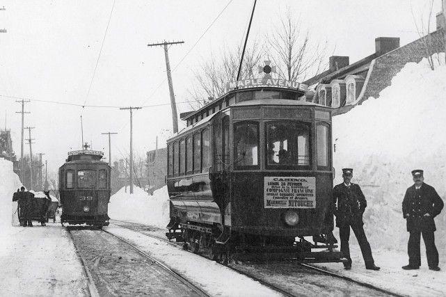 L'avenue des Érables en 1898