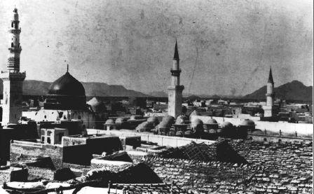 الحرم النبوي عام ١٩٠٨م الحجاز  The Holy Mosque of Medinah, 1908, Hejaz