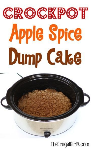 Crock Pot Apple Dump Cake With Fresh Apples