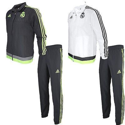 Track Suits 59339: Adidas Real Madrid Pr Mens Track Suit 2 Colours Joggingsuit Sports Suit New -> BUY IT NOW ONLY: $100.89 on eBay!