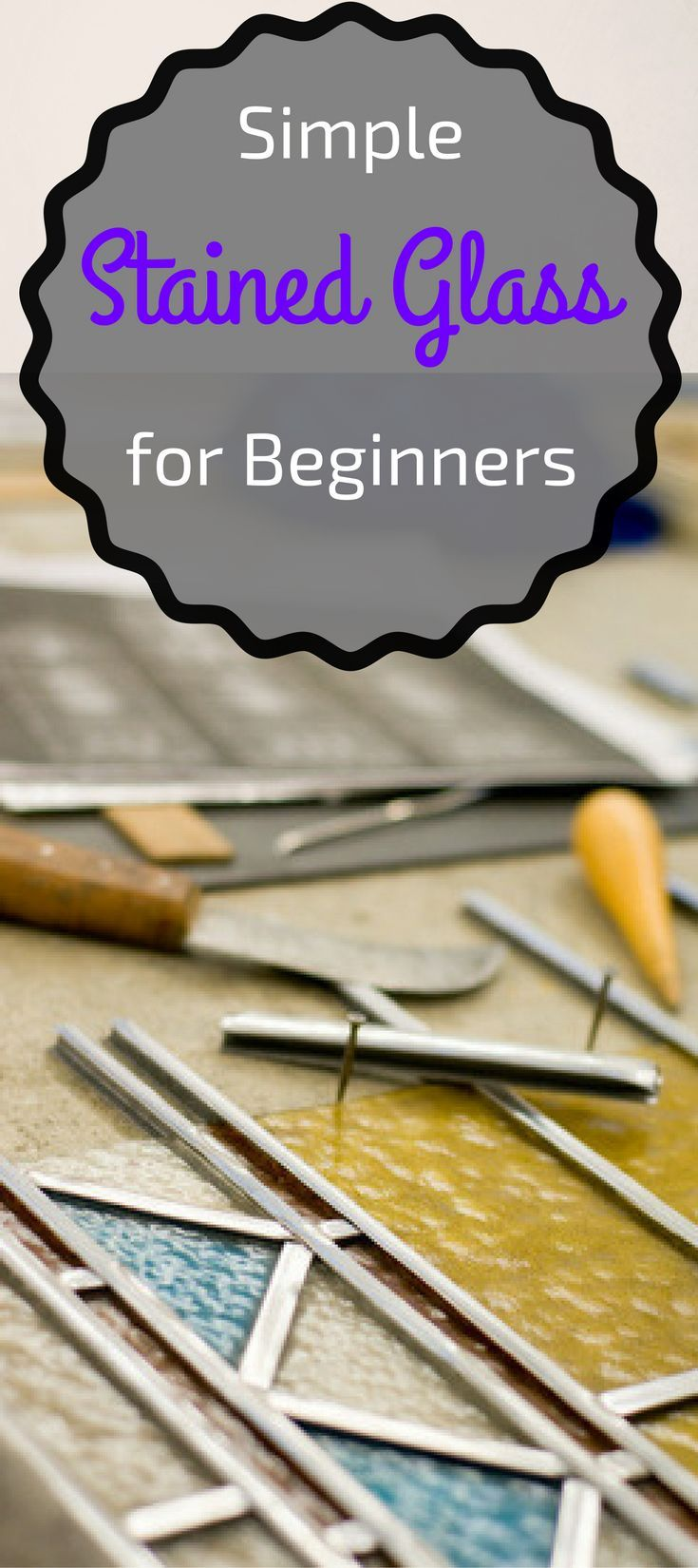 Simple #Stained Glass# #craft for Beginners - Pin this image so you can refer to it later