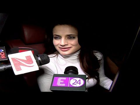 Ameesha Patel at Salman Khan's 50th birthday bash at Panvel Farmhouse.