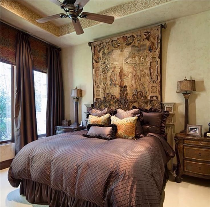 41 Best Images About Tuscan Bedroom Decor On Pinterest Curtain Headboards Red Gold And Old World