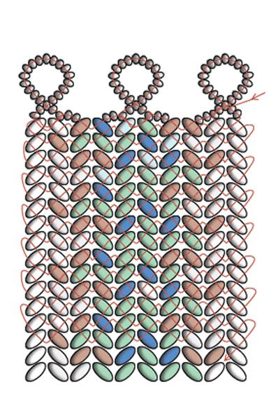 CosplaySupplies.com -- Tutorials > Twin Beads Tweed Bracelet // Herringbone stitch using twin beads (2.5x5mm)