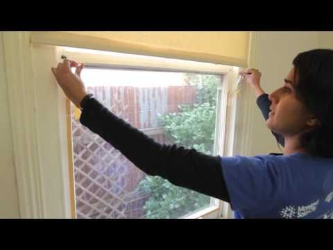 How to Weatherize Windows with Plastic Film Insulation -- by Home Repair Tutor - YouTube
