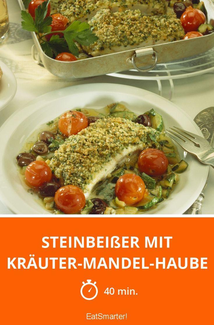 Steinbeißer mit Kräuter-Mandel-Haube