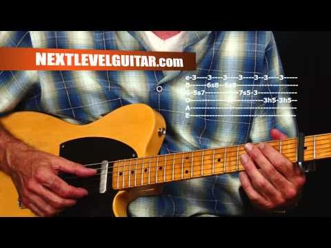 Learn Blues lead guitar licks and rhythms Jimmie Vaughan inspired soloing ideas devices tips - YouTube