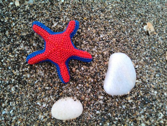 Brooch broche starfish por OmGanchillo en Etsy