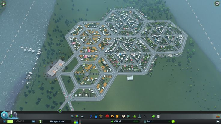 Cities skylines hexagon road layout google search
