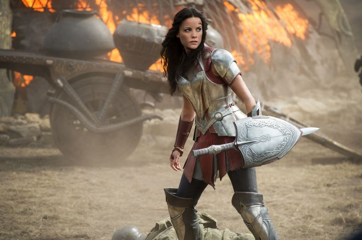 Sif!!!  Need to find a still of her swinging the sword on a horse....