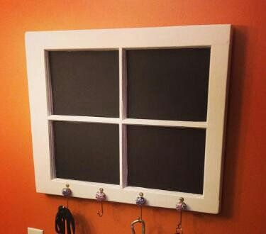 Up-cycled chalkboard.