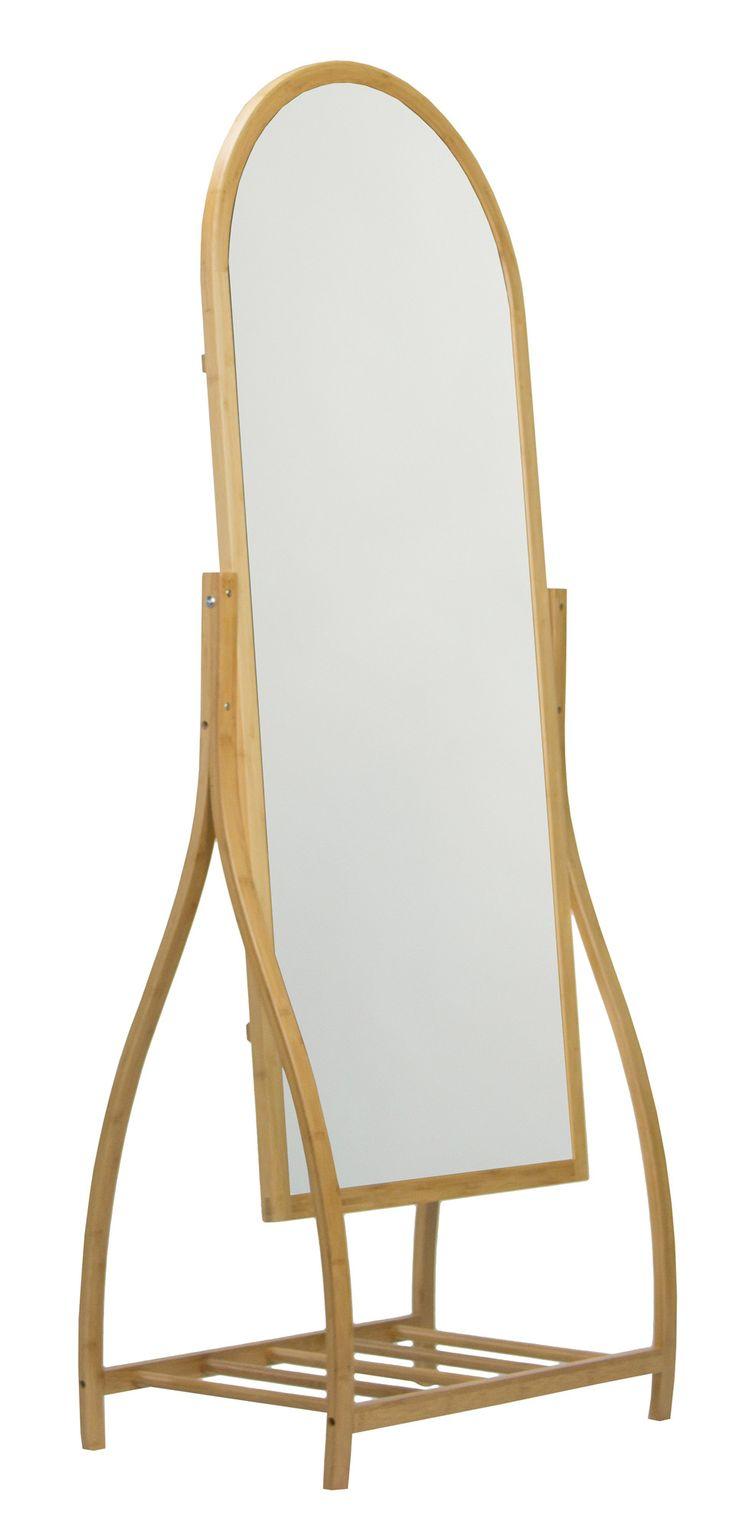 Tivoli Bamboo Freestanding Mirror | Wayfair