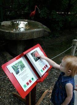 Exhibit Resources: Superior exhibit flipbook system, Varrobook is a fully ADA compliant interpretive graphic display system.