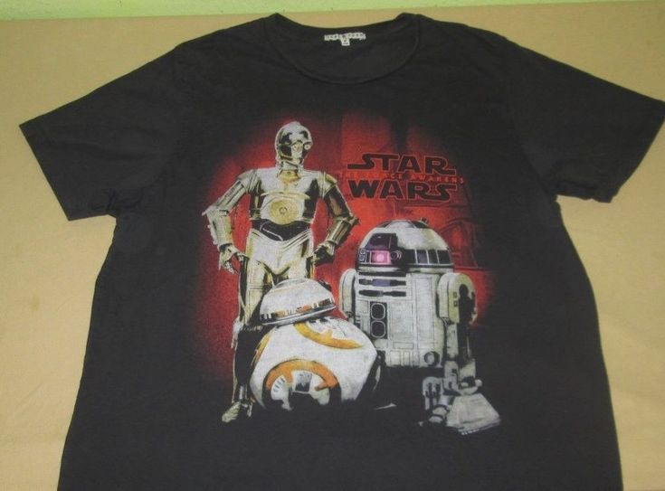 STAR WARS - The Force Awakens Graphic T Shirt Sz S Small - JUNK FOOD - R2D2 C3PO #JunkFood #GraphicTee