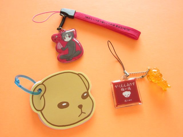 Photo1: Shojo Manga Cell/Mobile Phone Display Cleaner Strap, Keychain Charm, Mini Memo Pad Set