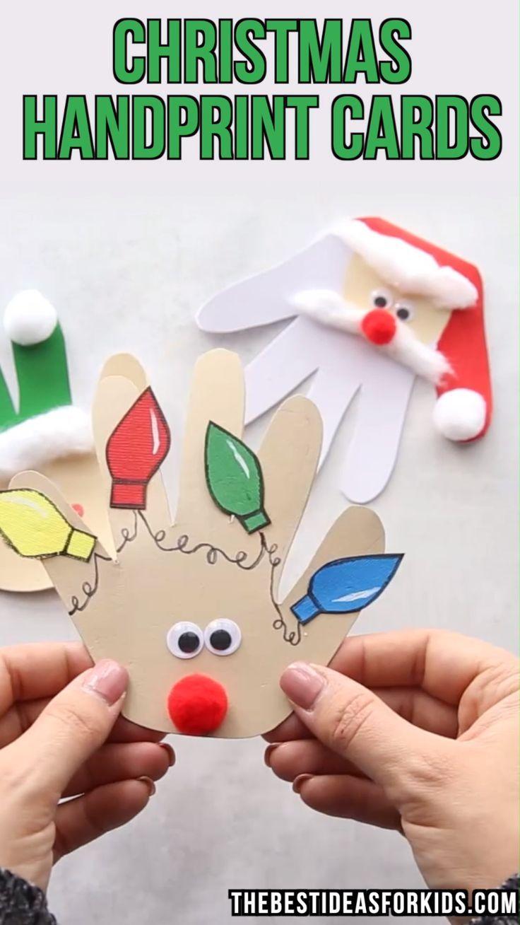 CARTES D\'EMPREINTE DE NOEL - aimez ces cartes de Noël faciles à ...