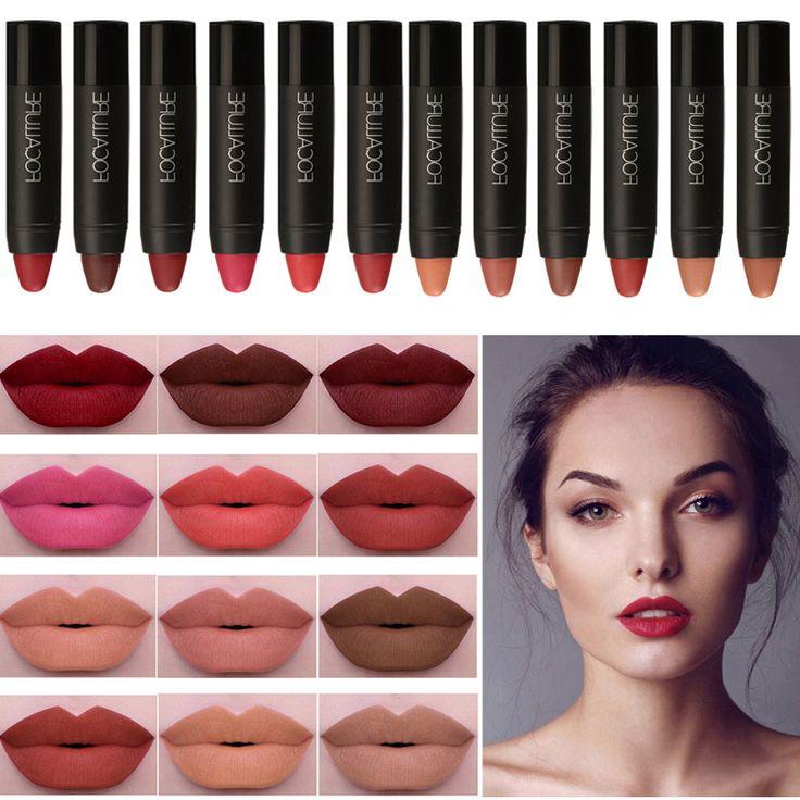Focallure mate lápiz labial lápiz labial de larga duración lip tint pigmento impermeable terciopelo marrón nude mate brillo de labios tinte labbra