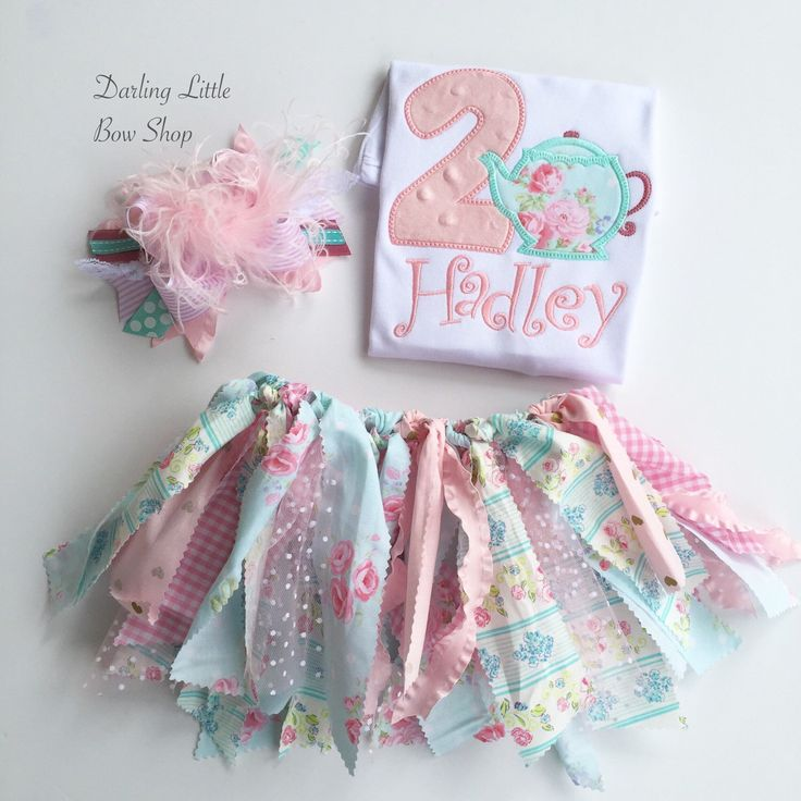 Tea for 2 Tutu Outfit -- Teapot theme birthday outfit -- 2nd birthday outfit -- fabric tutu skirt, shirt and bow by DarlingLittleBowShop on Etsy https://www.etsy.com/listing/275640026/tea-for-2-tutu-outfit-teapot-theme