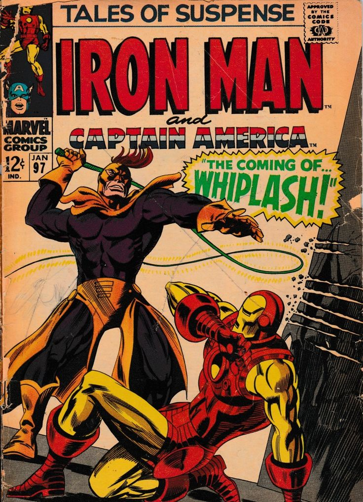 Tales of Suspense Vol. 1 No. 97 - 1967 - First Whiplash - Marvel Comics Comic Book by TheSamAntics on Etsy