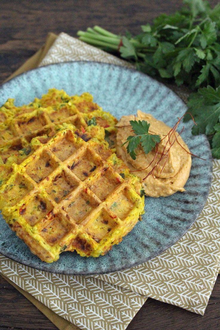 Rezept: Orientalische Linsenwaffeln mit Hummus (Zuckerfrei-Challenge Phase 1)