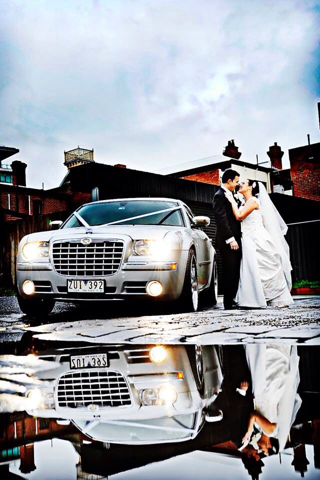 Melbourne winter wedding - Silver chrysler 300c - Con Tsioukis of Alex Pavlou Photography - www.alexpavlou.com