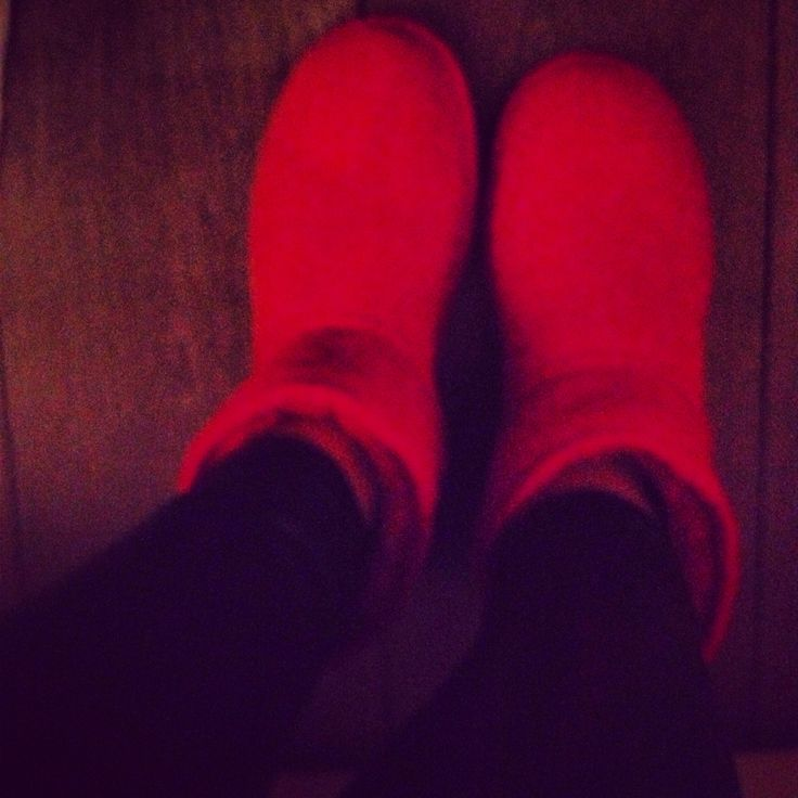 Ugg red boots winter