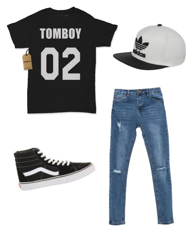 """""""loose tomboy"""" by anissa-c on Polyvore featuring Vans and adidas"""
