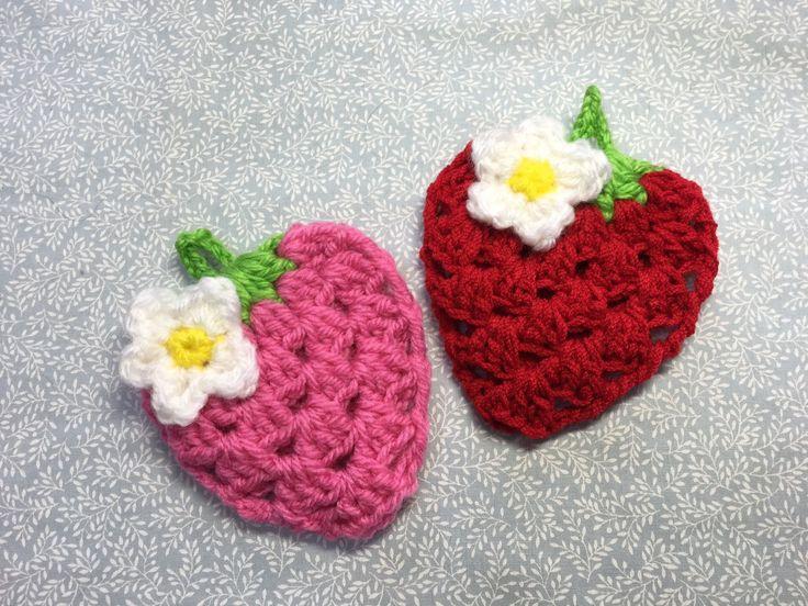 イチゴのエコたわし編み方