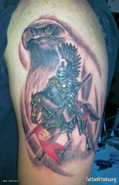 Polish Hussar with the eagle in the background~ this is the one i want <3