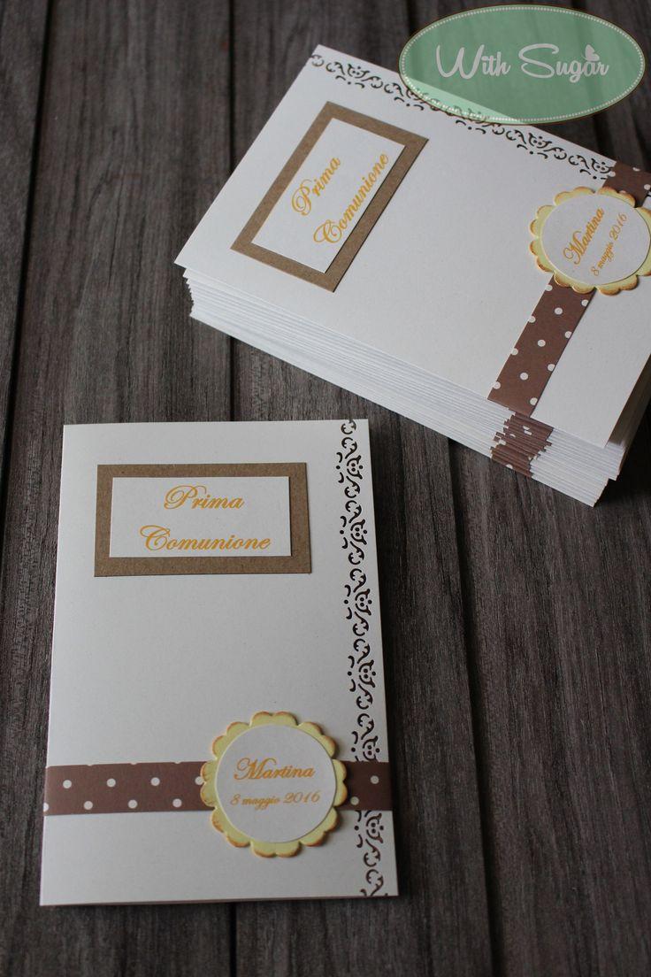 Inviti e Porta Foto per Prima Comunione - Handmade Cards