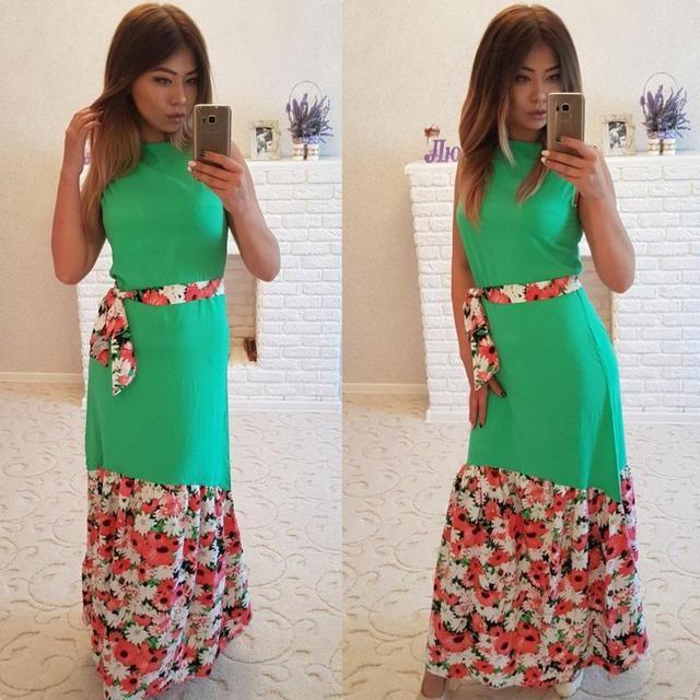 Фото платье шифон цветочек