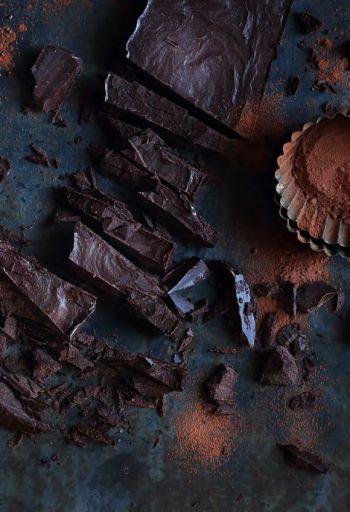 Homemade Dark Chocolate Slab