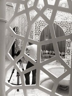 White trellising is the definition of exotic serenity at the spa in the Royal Mansour
