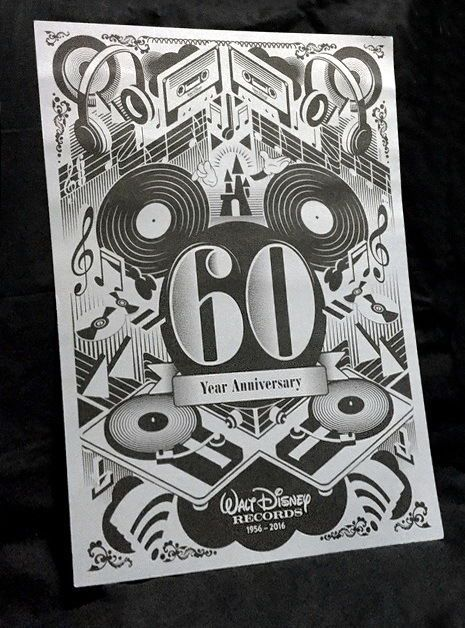 #AUCTION ENDS SOON!!  $4.95 Starting Bid!    Available on Ebay  HERE --->>> http://ebay.to/2nxXils     #RARE! 2016 Walt #Disney #Records 🎶 60th #Anniversary 11x14 #Art 🎨#Poster #Ebay 💗💗💗