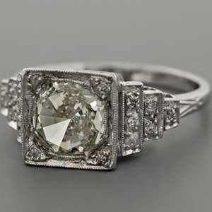 antique art deco diamond ring love this ring really looks like something you would wear sort of like that amber one you had back in high school - One Of A Kind Wedding Rings