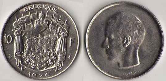 Pièce de 10 francs belges