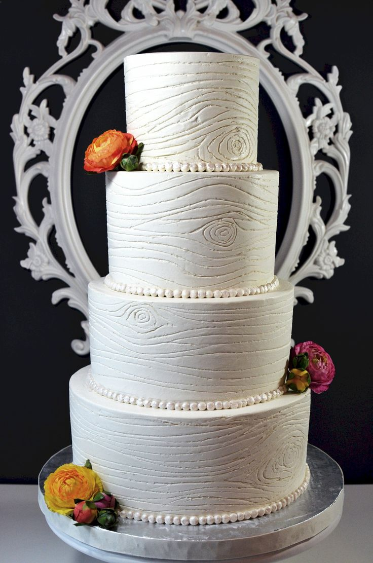 Let them eat cake rustic wedding chic - Buttercream Woodgrain Wedding Cake I Made This Cake A Few Weeks Ago For A Bride That Wanted That Rustic Wood Grain Look But Didn T