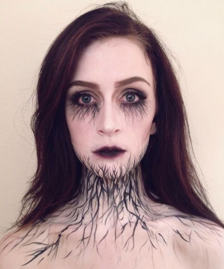 "This Is As Pretty As ""Scary"" Halloween Makeup Gets #refinery29 I love it. Maybe a Halloween look for me?"