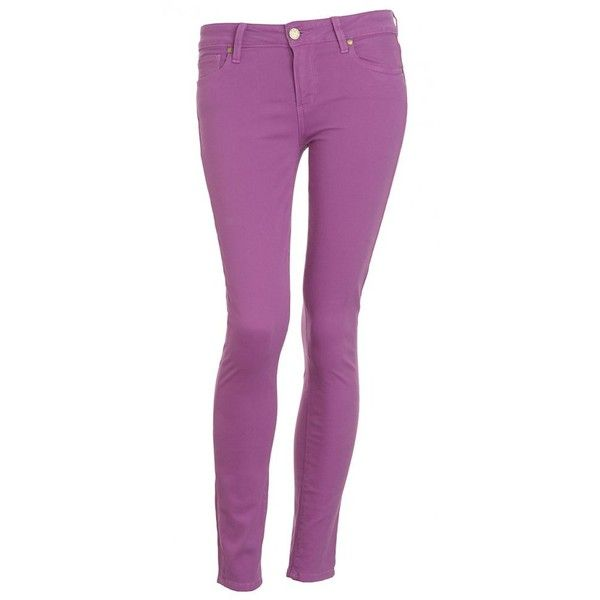 Paige Jeans Boysenberry, Purple, Verdugo Ankle Crop Skinny Jean ($130) ❤ liked on Polyvore featuring jeans, pants, bottoms, purple, raspberry, super stretch skinny jeans, mid rise skinny jeans, skinny leg jeans, purple skinny jeans and zipper jeans