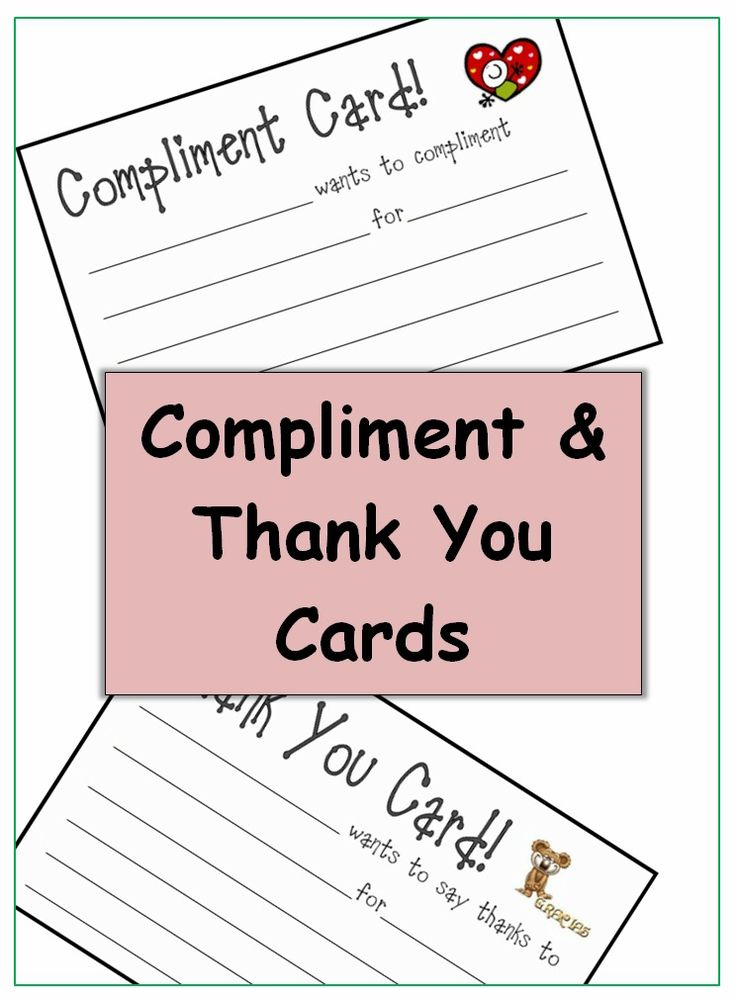 I love to use these cards to help student pass on compliments and thank you's to their classmates. Really helps establish a kind and caring environment in my elementary school classroom! $2
