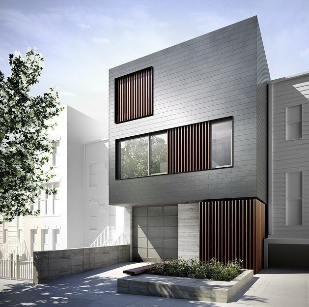 Waterfront Townhome Boasts Cool Urban Style: Modern Townhouse