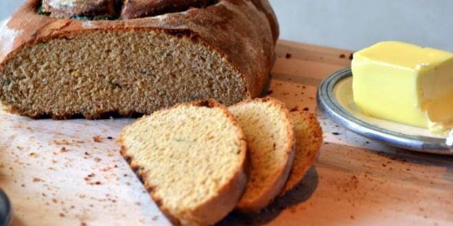 Meyer Lemon & Fresh Mint Peace Peasant Bread