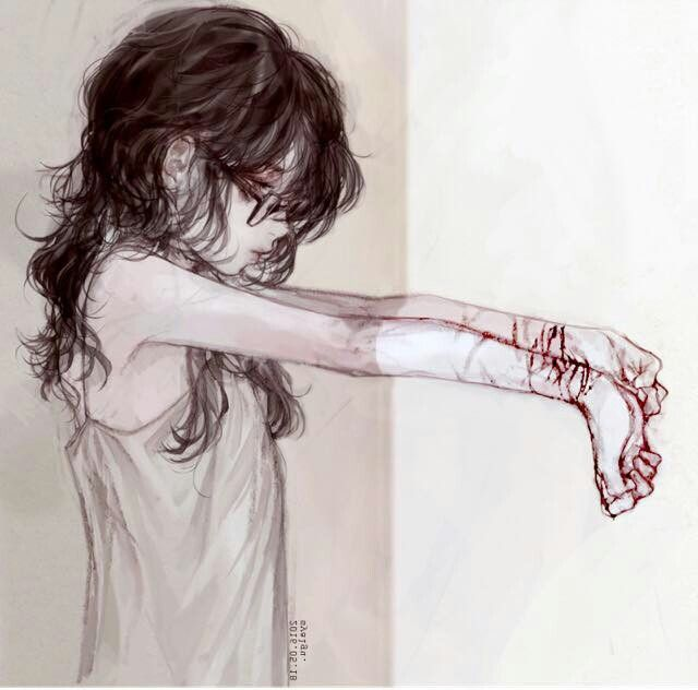 I have scars just not the ones that show. I have scars on my heart and my mind. You can't see them but they are there.