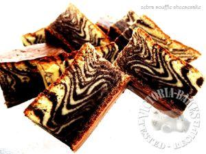 zebra souffle cheesecake