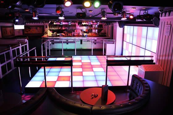 Amazing dance floor ready to be partied on in Strawberry moons!