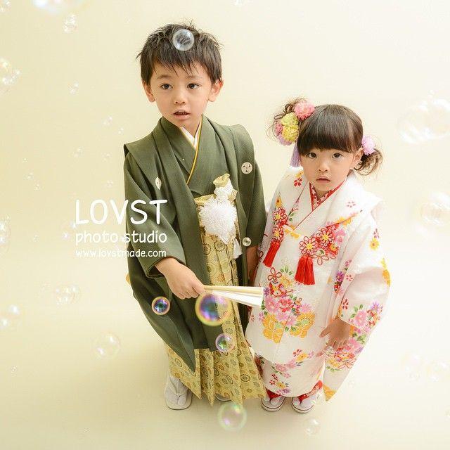 #LOVST#ラブスト#勝どき#子供写真スタジオ#ハウススタジオ #3歳 #5歳 #被布#袴#着物#七五三#兄妹
