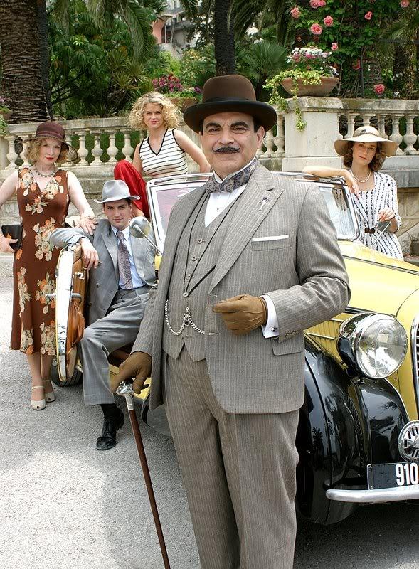 David Suchet as Agatha Christie's Poirot.