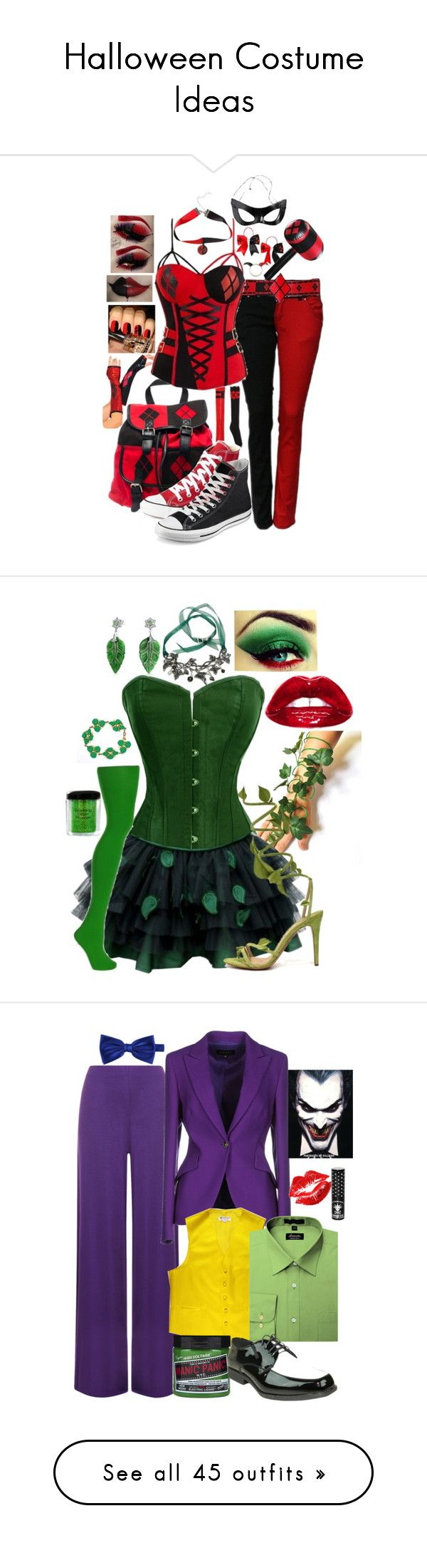 """Halloween Costume Ideas"" by secretsoftheslytherin ❤ liked on Polyvore featuring Converse, NYX, Bling Jewelry, WearAll, ESCADA, Manic Panic, Noir, Halloween, 60secondstyle and superherocostume"